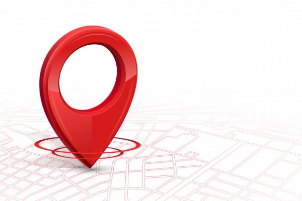 Gps Gps Icon 3d Red Color Dropping Street Map Whitebackground 99087 3